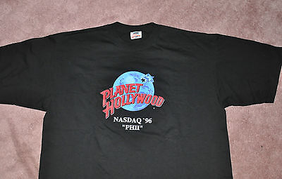 "Planet Hollywood  NASDAQ '96 ""PHII"" T-Shirt XL"
