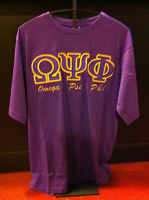 Omega Psi Phi Fraternity Stitched Letter- Size Medium-New!