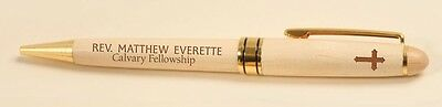Personalized Laser Engraved Maple Wood Pen - Great Groomsman Gift!