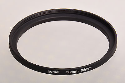 58mm-62mm Filter Adaptor Ring Converts 58mm lens thread to 62mm 58-62 Step-Up