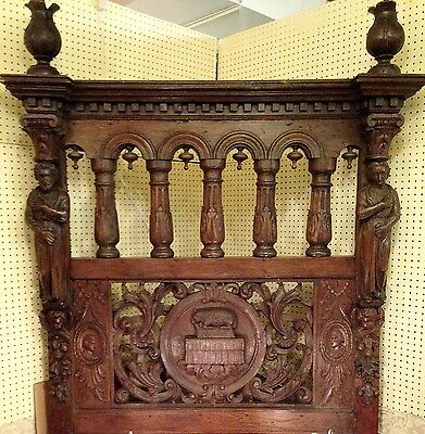 19th century Carved bed. American songwriter Paul Leka/Colgate Mansion