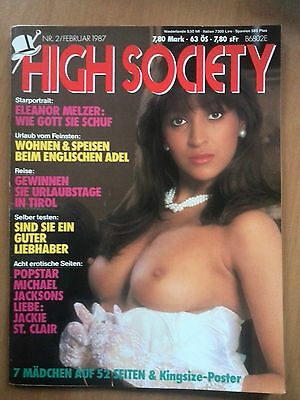 HIGH SOCIETY FEBRUAR 1987  - GALLERY -VOLUPTUOUS - SCORE