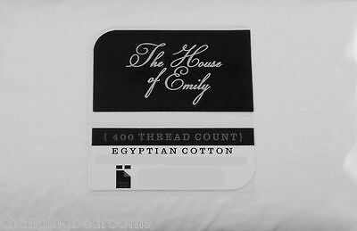 Egyptian Cotton 400 Thread Superking Fitted Sheet  White  Extra Deep 12 Inch Box