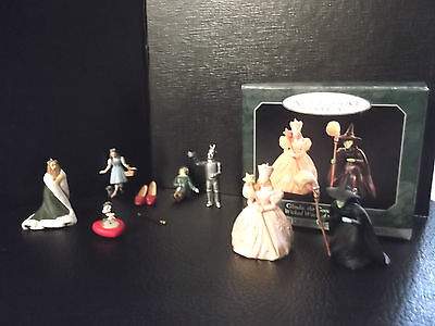 Hallmark Miniature Ornament, Wizard of Oz Witch, Lion + Heart, Dorothy + Shoes