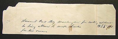 1857 South Carolina Slave Document ~ Receipt for the Hire of a SKILLED Slave