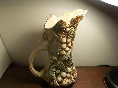 OLD MACOY WATERING PITCHER GRAPE S AND LEAVES DECORATIVE WATER PITCHER