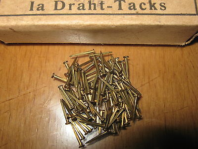Old German brass nails 200pcs - 1x11mm (angular)