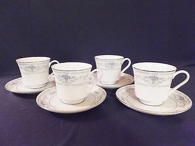 FINE PORCELAIN CHINA WADE DIANE MADE IN JAPAN 4 COFFEE CUPS & SAUCERS
