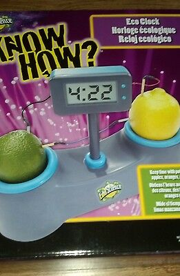 EDU SCIENCE KNOW HOW ECO CLOCK - NEW - SCIENCE PROJECT