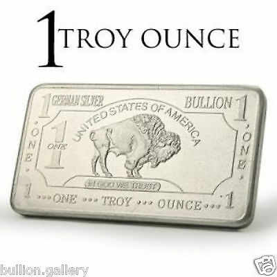 1913 American Buffalo/Bison 1TroyOunce German Mint Antique Silver Proof Bar Coin