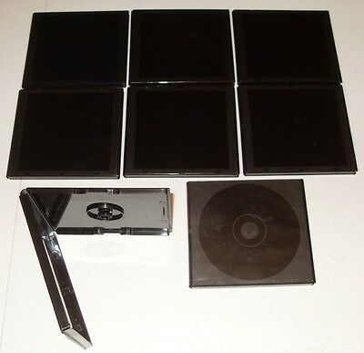 DVD Small Heavy Duty Black Storage Cases - Lot of Eight