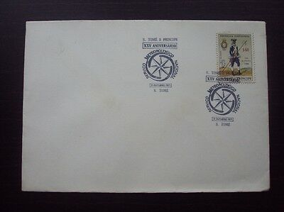 PORTUGAL SAINT THOMAS 1971 METEREOLOGIC SERVICE  $40 FDC 1ST DAY COVER