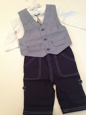 First Impressions Baby Boy Dressy Holiday Vest Pants Outfit Set Size 3 6 Months