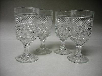 ANCHOR HOCKING WEXFORD  GOBLETS SET OF FOUR