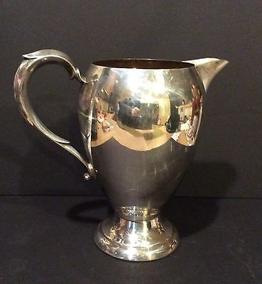 Vintage Sheets Rockford Silver Co Silverplate Water Pitcher