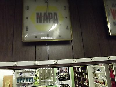 vintage NAPA auto part clock