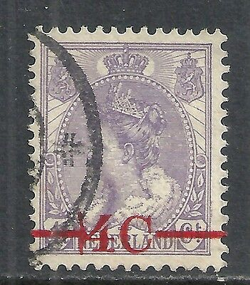 Netherlands stamps 1921 NVPH 106P1 Overprint Error  CANC  VF