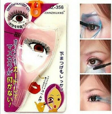 Pink Eyelash Applicator Eyelid Mascara Protector Makeup Cosmetic Tool Frame