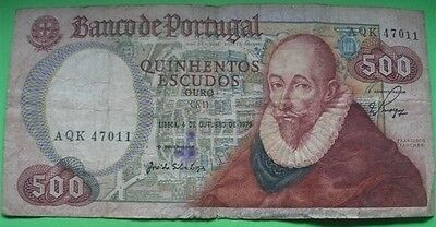 Portugal note 500$00 Francisco Sanches 1979