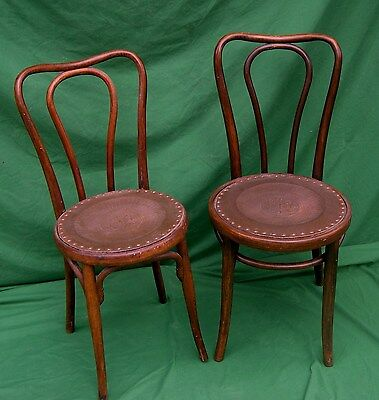 Pair of Local PickUpOnly  Antique Bentwood Chairs with New Composition Seats