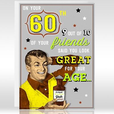 60th Male Birthday Card