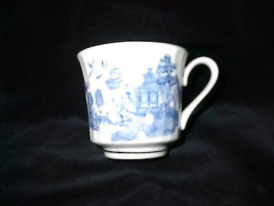 China Tea Cup with Blue Pattern Japanese Home, Garden, Boat and Birds