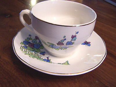 Enoch Wedgwood (Tunstall) China Tea Cup and Saucer - made in England