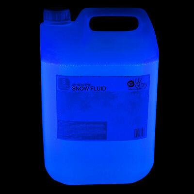 UV Glow UV Snow Fluid 1 x 5 Litres (Ready to use) works in all snow machines 5L