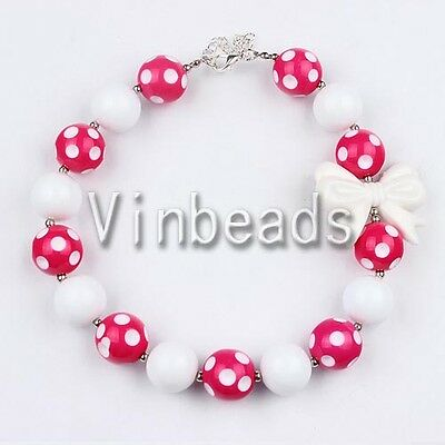 Acrylic Chunky Beads Bubblegum Charm Pendant Jewlery for Christmas Necklace #14