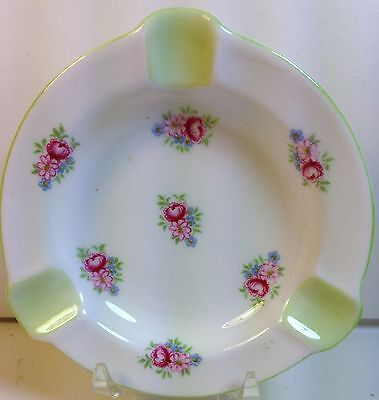Shelley China Ashtray in Red Rose and Daisy