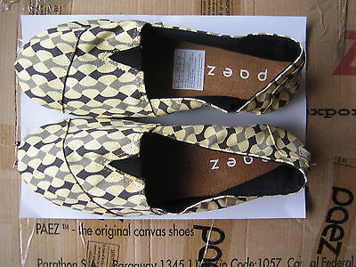 PAEZ Alpargata Canvas Casual Shoes STAMPED ARROWS. REDUCED PRICE. NEW. FREE POST
