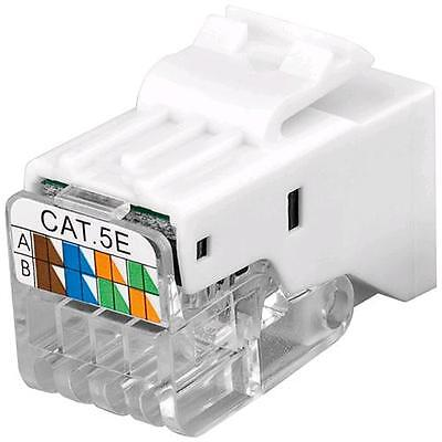 Intellinet Frutto Keystone Toolless RJ45 Cat5e UTP Snap-In Bianco