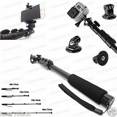 Extended Selfie Stick MONOPOD for iPhone 6 plus Note 4 3 / GoPro Hero 4 3+ 3 2 1