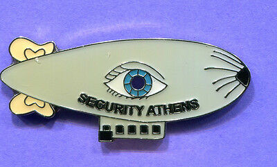 2004 ATHENS OLYMPIC SECURITY BLIMP PIN OFFICIAL LIMITED EDITION 1000 MADE