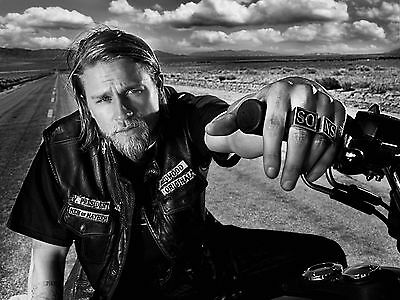 Charlie Hunnam Sons of Anarchy Jax Photo Print Poster 8.5 by 11 inches