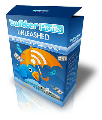 Twitter Profits Unleashed eBook! Twitter Traffic!  Resell rights!