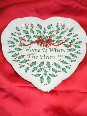Lenox Home Is Where The Heart Is Holiday Heart Shaped Dish NEW!