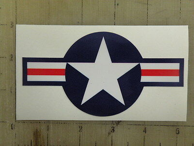 """Vintage Star and Bars red/wht/blu decal sticker 5""""x2.6"""""""