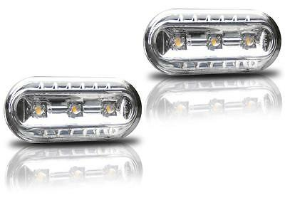 2 Repetiteur Led Vw T5 Bus Multivan Caravelle Lateraux Chrome M1 Cristal