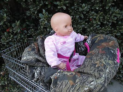 Mossy Oak camo with hot pink shopping cart cover/high cover-handmade