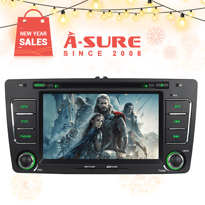 "7"" Double DIN Stereo Car Radio DVD Player GPS DAB+ For Skoda Octavia Yeti Fabia"