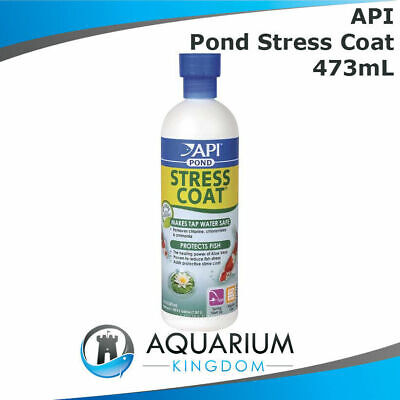 API PondCare Stress Coat 473mL - Pond Water Conditionerr/Ager - Removes Chlorine