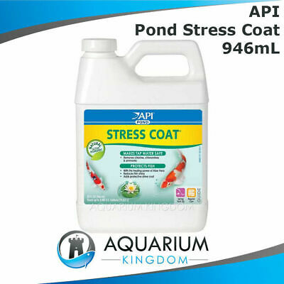 API PondCare Stress Coat 946mL - Pond Water Conditioner/Ager - Removes Chlorine