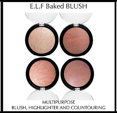 Elf E.l.f. Baked Blush Bronzer Highlighter Multipurpose Contouring Peechy Pink