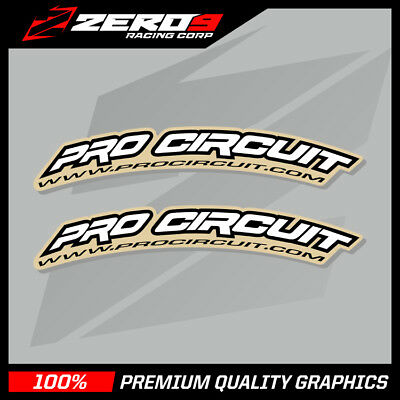 Pro Circuit Curved Fender Decals Motocross Graphics Ktm Yzf Rmz Kxf White