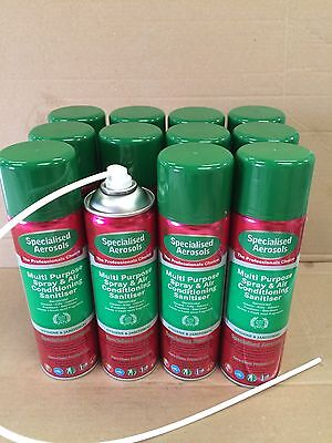 Air Con Sanitiser 500Ml Aerosol X 12 - With  One Applicator Tube