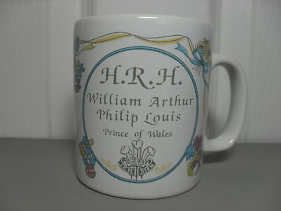 HRH Prince William Mug Birth of Prince of Wales 1982 Collectable GIft