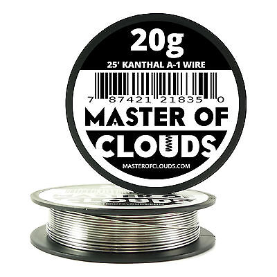 25 ft - 20 Gauge AWG A1 Kanthal Round Wire 0.81mm Resistance A-1 20g GA 25'