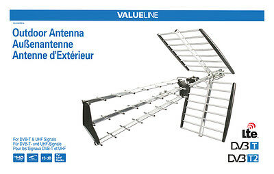 ANTENNE TV  EXTÉRIEURE DVB-T UHF 15 dB LTE PROTECTION 4G CANAUX 61 A 69