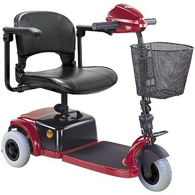 CTM HS-125 3 Wheel Electric 250w Mobility Travel Scooter Cart Foldable seat RED